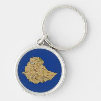 Ethiopia Map Keychain