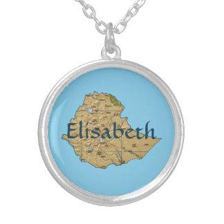 Ethiopia Map + Name Necklace