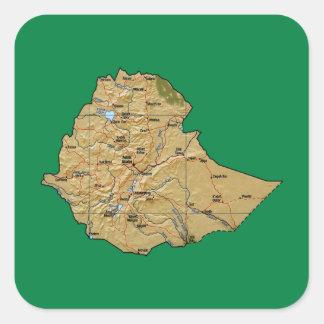 Ethiopia Map Sticker
