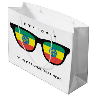Ethiopia Shades custom text & color gift bag