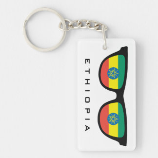 Ethiopia Shades custom text & color key chain