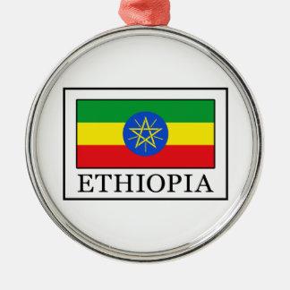 Ethiopia Silver-Colored Round Decoration