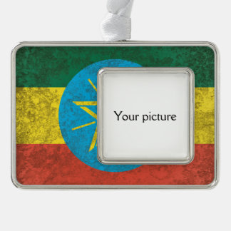 Ethiopia Silver Plated Framed Ornament