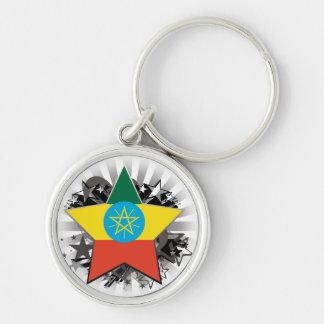 Ethiopia Star Key Ring