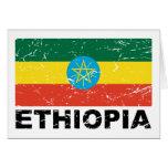 Ethiopia Vintage Flag Greeting Card