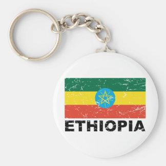 Ethiopia Vintage Flag Key Ring