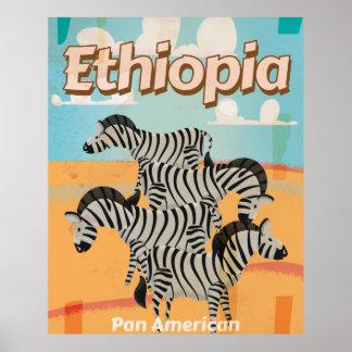 Ethiopia Vintage Travel Poster. Poster