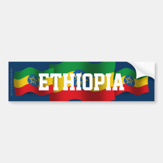 Ethiopia Waving Flag Bumper Sticker