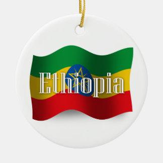 Ethiopia Waving Flag Christmas Ornament