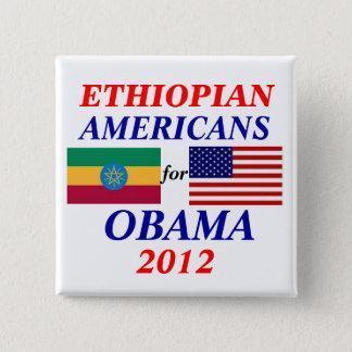 Ethiopian americans for Obama 15 Cm Square Badge