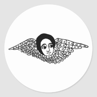Ethiopian angel classic round sticker