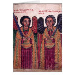 Ethiopian Archangels Michael and Gabriel Christmas Greeting Card