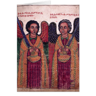 Ethiopian Archangels Michael and Gabriel Christmas Card