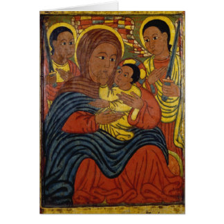 Ethiopian Black Madonna with Jesus Christmas Card