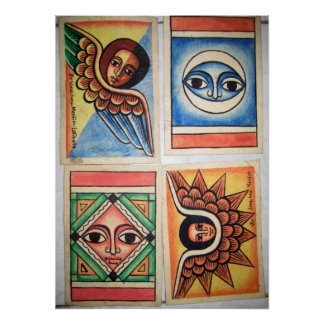 Ethiopian Church Painting - Angels Artwork Poster