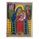 Ethiopian Church Painting - Black Maryam Poster