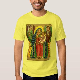 Ethiopian Church Painting - Black Maryam T-Shirt