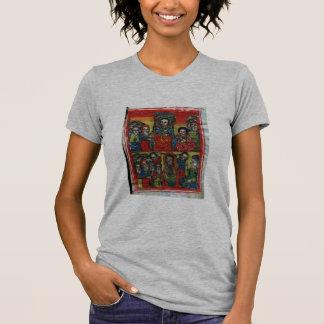 Ethiopian Church Painting -T-Shirt Black Mary grey