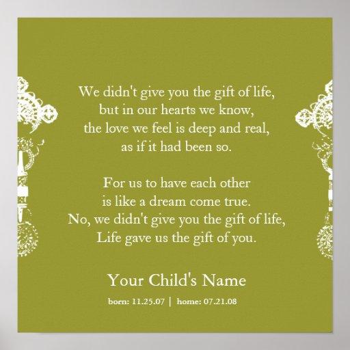 Ethiopian Cross - Adoption Poem Poster