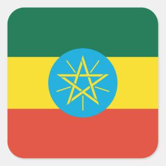 Ethiopian Flag Square Sticker