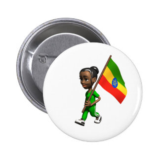 Ethiopian Girl Pin