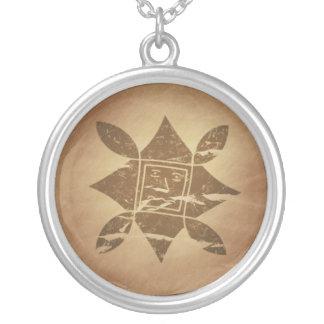 Ethiopian Good Luck Charm V2 Round Pendant Necklace