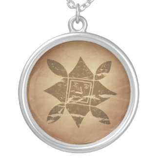 Ethiopian Good Luck Charm V2 Silver Plated Necklace