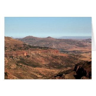Ethiopian Mountains Card