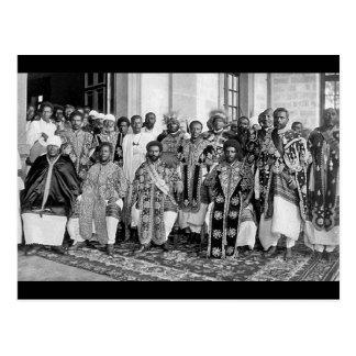 Ethiopian Royalty 1920's - 1930 Postcard