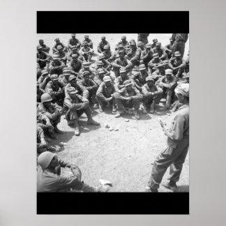 Ethiopian troops training in Korea_War Image Poster