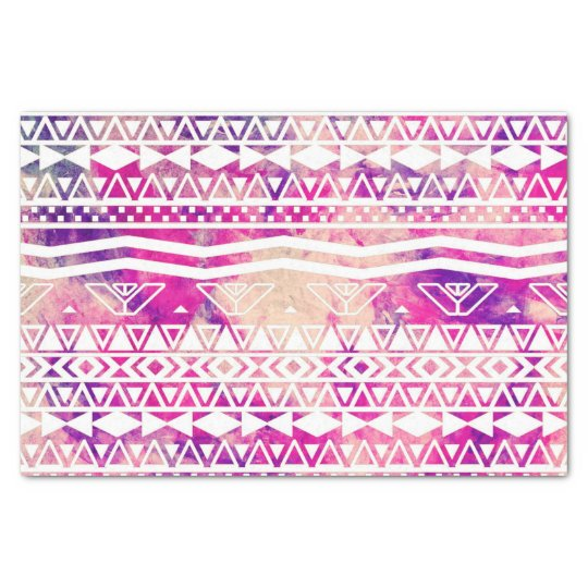 Ethnic Abstract Andes Aztec Pattern Watercolor Tissue Paper