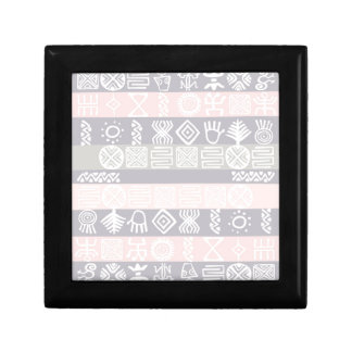 Ethnic African Boho Design Small Square Gift Box