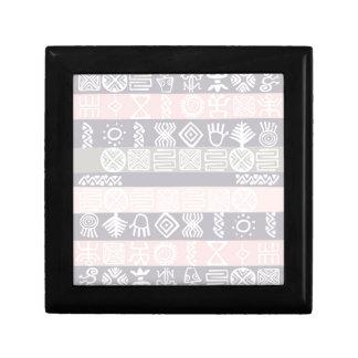 Ethnic African Boho Design Small Square Gift Box