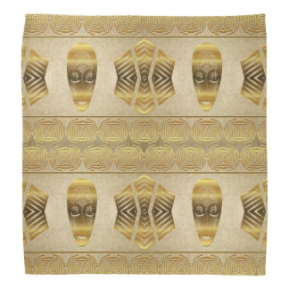 Ethnic african golden pattern. bandana