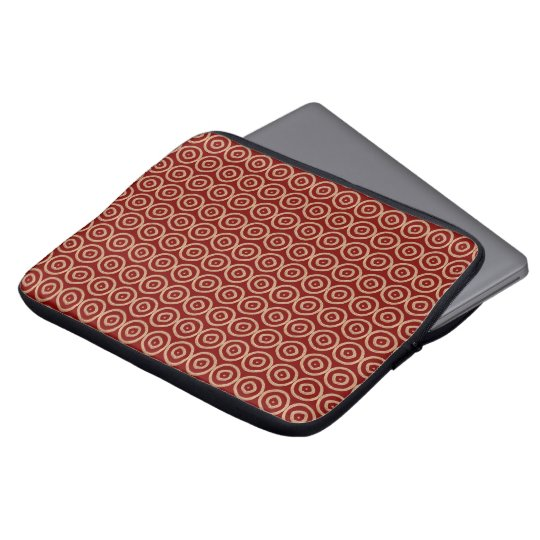 ethnic african hand-drawn pattern laptop computer sleeves