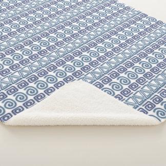 Ethnic african hand-drawn  pattern. sherpa blanket