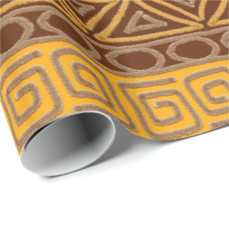ethnic african hand-drawn pattern wrapping paper