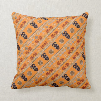 ethnic african mask pattern cushion