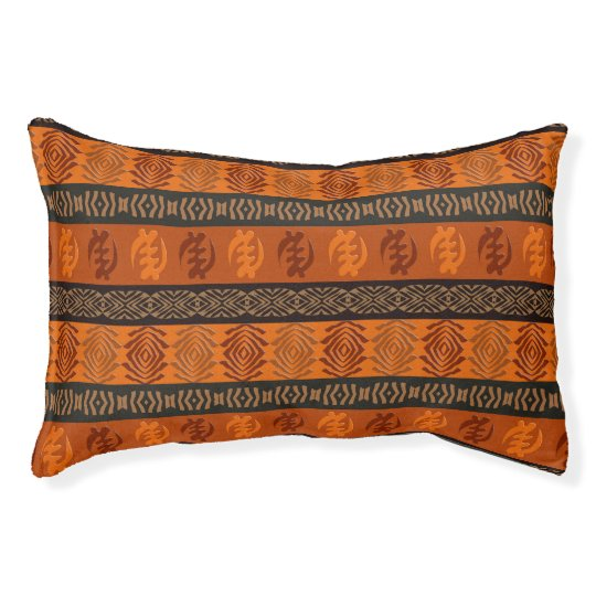 Ethnic African pattern with Adinkra simbols