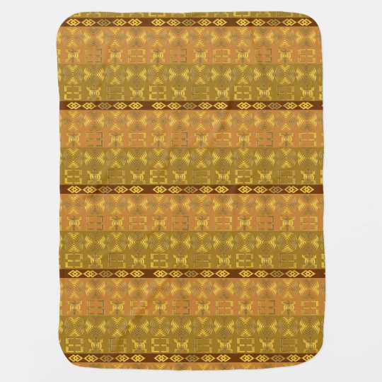 ethnic african pattern with Adinkra simbols Baby Blanket