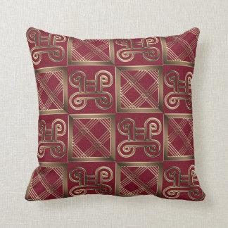 Ethnic African pattern with Adinkra simbols Cushion