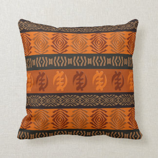 Ethnic African pattern with Adinkra simbols Cushion