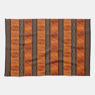 Ethnic African pattern with Adinkra simbols Tea Towel
