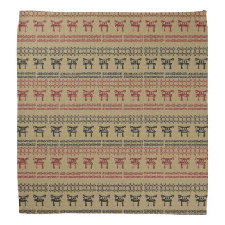 ethnic african  pattern with simbols. bandana