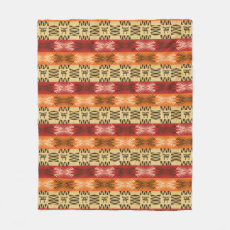 ethnic african  pattern with simbols. fleece blanket