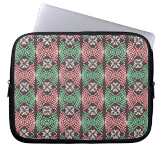 ethnic african striped geometric  pattern laptop sleeve