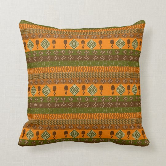 ethnic african striped tribal pattern. cushion