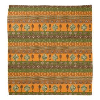 ethnic african striped tribal pattern. kerchief