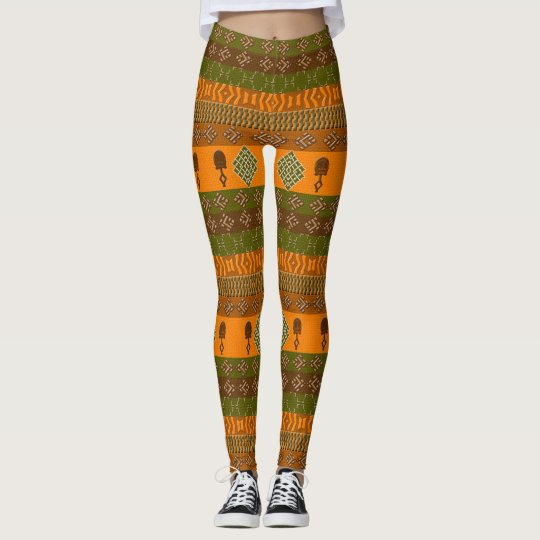 ethnic african striped tribal pattern. leggings