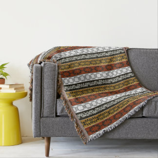 ethnic african striped tribal pattern. throw blanket